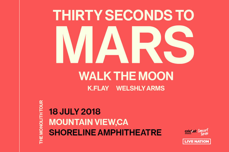 Thirty Seconds to Mars with Walk the Moon at Shoreline Amphitheater