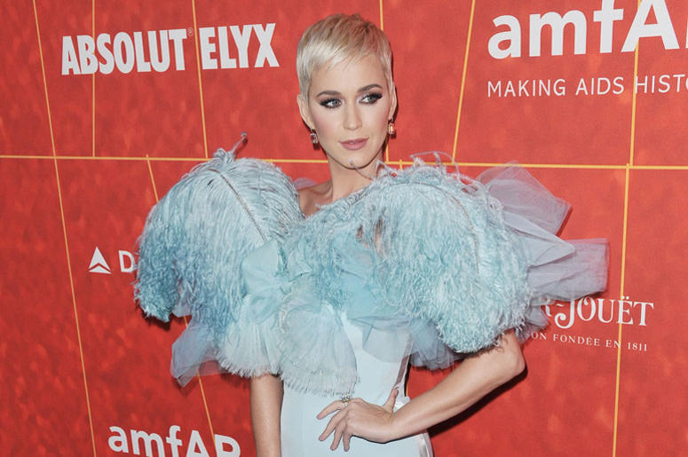 Katy Perry arrives at the amfAR Gala Los Angeles 2018