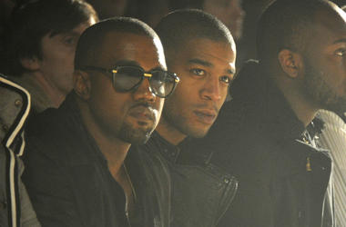 Kanye West and Kid Cudi attend the Band of Outsiders Fall 2011 fashion show during Mercedes-Benz Fashion Week at SIR Stage on February 12, 2011 in New York City.