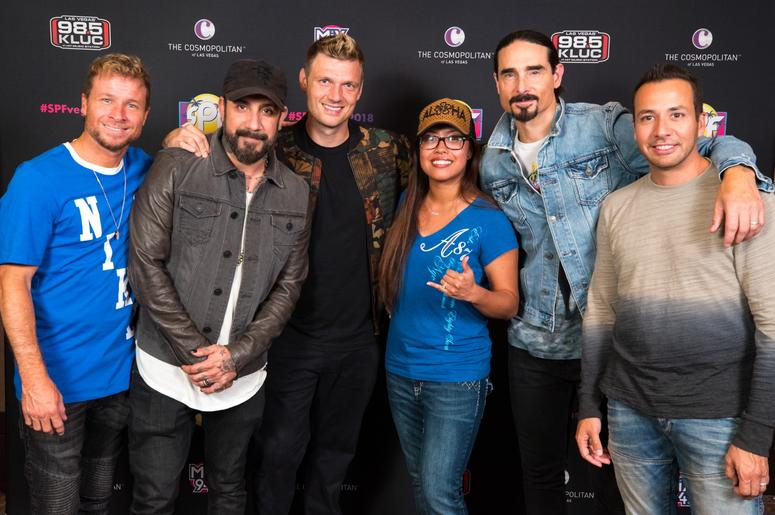 Spf 2018 see your pics with bsb bebe and more las vegas 985 kluc spf 2018 backstreet boys m4hsunfo