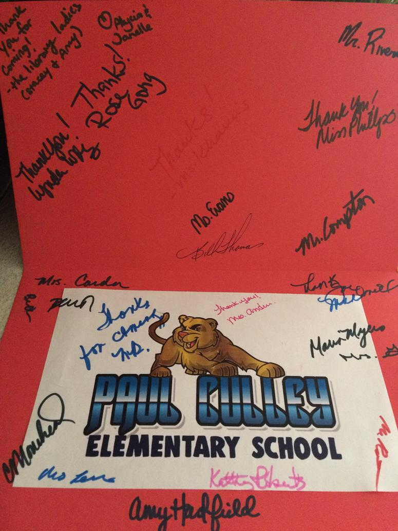 Card from Paul Culley Faculty
