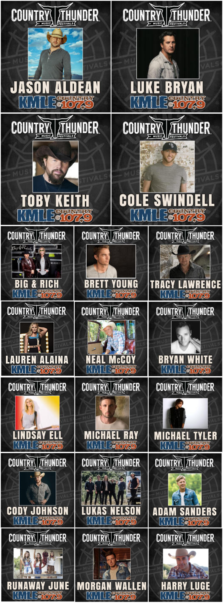 Country Thunder Line Up