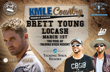 KMLE Country Double Header March 1st with Brett Young and LOCASH