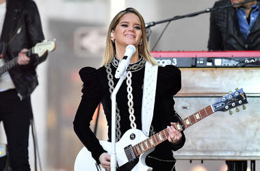 Maren Morris performs on NBC's 'Today' at Rockefeller Plaza on March 8, 2019 in New York City
