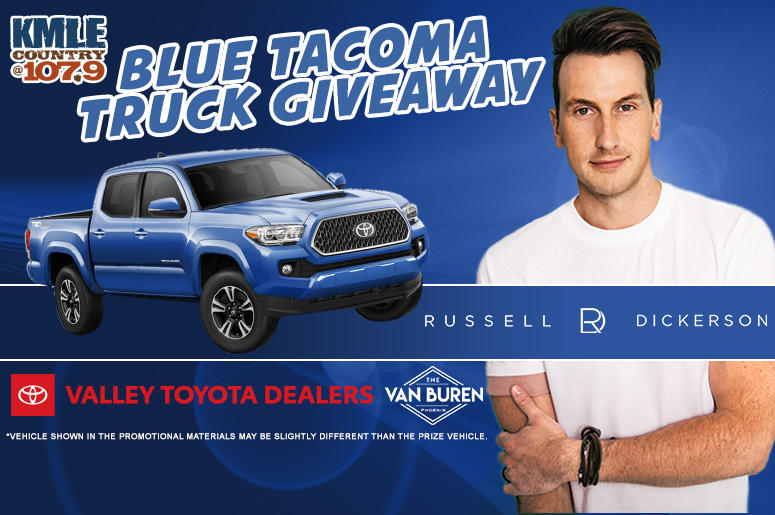 Russell Dickerson Blue Tacoma Giveaway