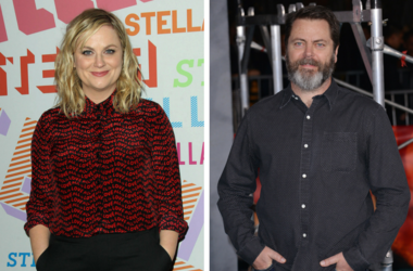 "Nick Offerman arriving at the ""Kong: Skull Island"" Los Angeles Premiere held at the Dolby Theatre in Hollywood, CA on Wednesday, March 8, 2017. / Amy Poehler. Stella McCartney Autumn 2018 Presentation held at S.I.R. Studios in Los Angeles."