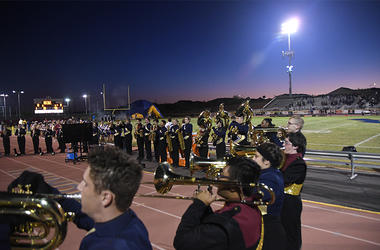 Combined Wind Ensembles of Desert Vista and Mountain Pointe High Schools