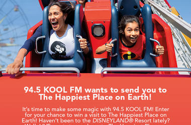 94.5 KOOL FM wants to send you to The Happiest Place on Earth!