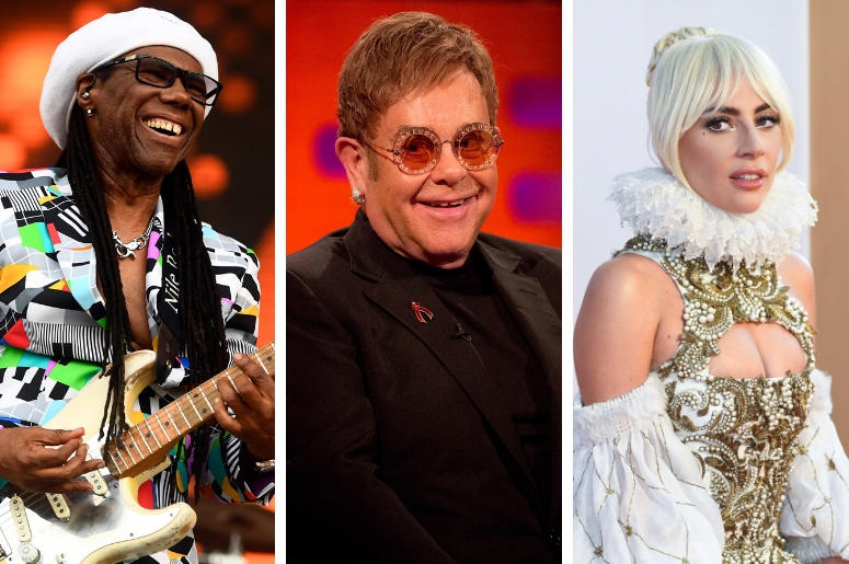 Nile Rodgers, Elton John and Lady Gaga
