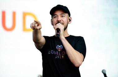 Mike Shinoda performs at 2018 LOVELOUD Festival