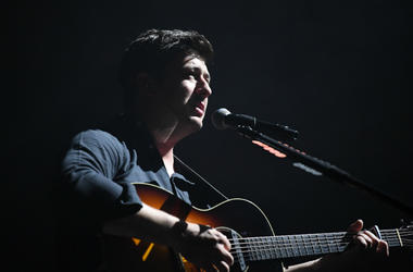 Marcus Mumford of Mumford & Sons performs at American Airlines Arena.