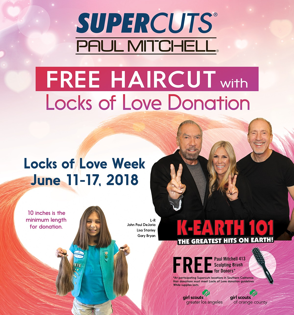 Locks Of Love Week With Supercuts And Paul Mitchell K Earth 101