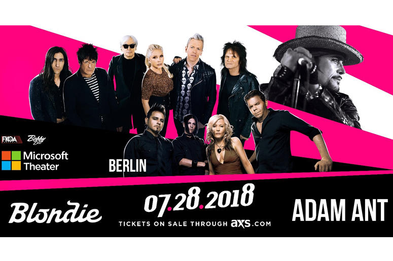 K-EARTH 101 presents Night #2 of Blondie with Adam Ant and Berlin