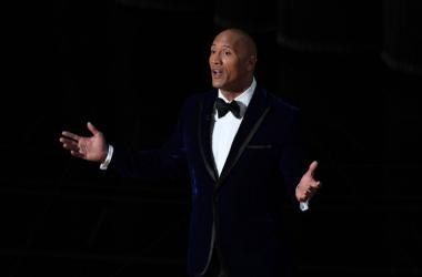 "Dwayne ""The Rock"" Johnson introduces Lin Manuel Miranda and Auli'i Cravalho as they perform 'How Far I ll Go' from 'Moana' during the 89th Academy Awards at Dolby Theatre."