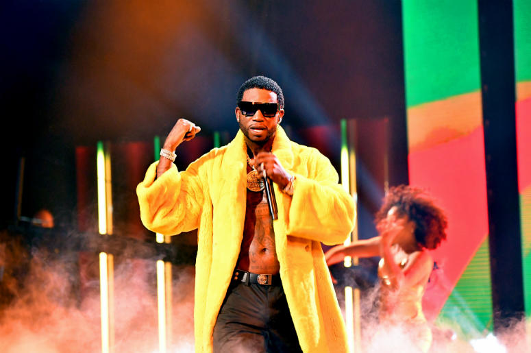 Gucci Mane performs onstage during the BET Hip Hop Awards 2018