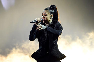 Kehlani performs onstage