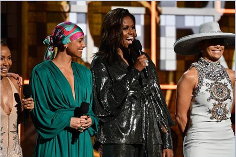 Michelle Obama Makes a Guest Appearance at 61st Grammy Awards