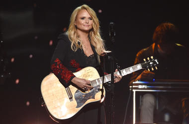 "FILE - In this April 15, 2018 file photo, Miranda Lambert performs ""Keeper of the Flame"" at the 53rd annual Academy of Country Music Awards at the MGM Grand Garden Arena in Las Vegas. Country star Lambert celebrated Valentine's Day weekend with the announ"