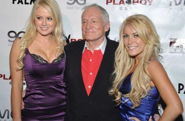 NV: HUGH HEFNER HOSTS PARTY AT THE PLAYBOY CLUB