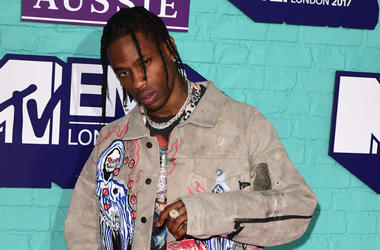Travis Scott attending the MTV Europe Music Awards 2017 held at The SSE Arena, London.