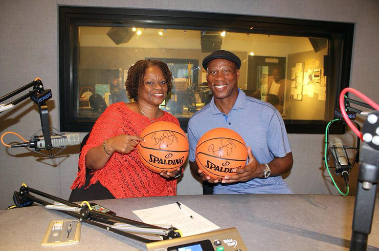 Pat Prescott with Byron Scott