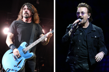 Dave Grohl and Bono