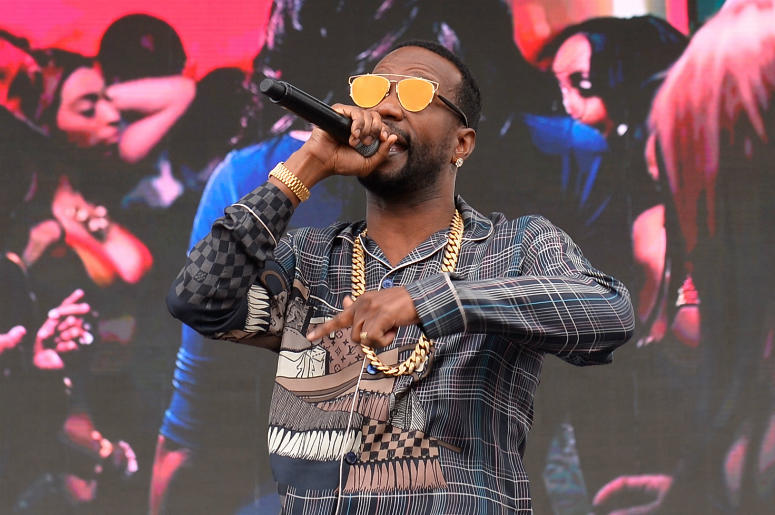 Juicy J performs onstage during the Daytime Village Presented by Capital One at the Las Vegas Village on September 23, 2017 in Las Vegas, Nevada.