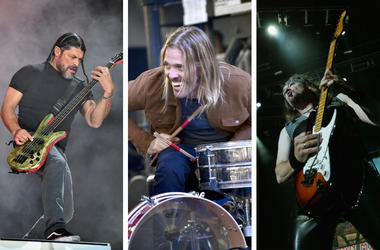 Robert Trujillo, Taylor Hawkins and Adrian Smith