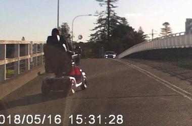 Drunk Pensioner Rides Mobility Scooter On Highway