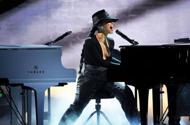 Alicia Keys performs onstage during the 61st Annual GRAMMY Awards at Staples Center on February 10, 2019 in Los Angeles, California
