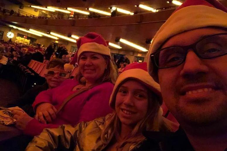 Getting ready for the Radio City Rockettes!