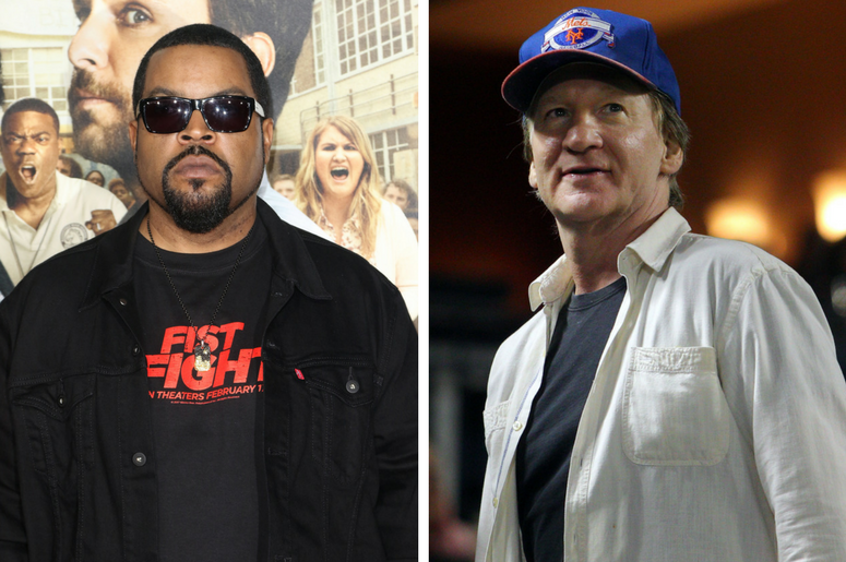 Rapper Ice Cube and Comedian Bill Maher