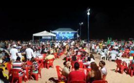 Com milhares de banhistas, praias do Cacau e do Meio são sucesso de público