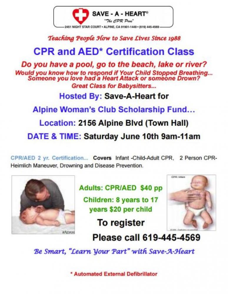 Cpr Aed Certification Class Sunny 981 Fm