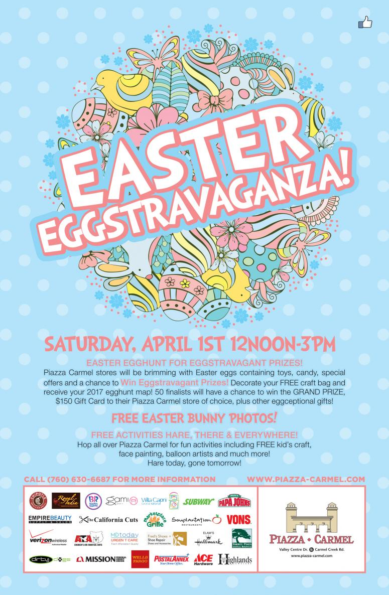 Easter eggstravaganza sunny 981 fm join dawne davis and sunny 981 to celebrate easter eggstravaganza at the piazza carmel shopping center on saturday april 1st from 12pm 3pm negle Gallery