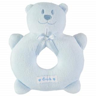 Velour teddy ring rattle