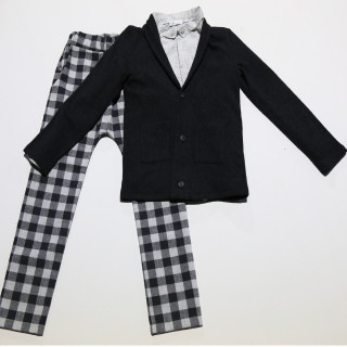BW18502-1B Blazer & shirt & pant