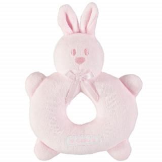 Velour bunny ring Rattle