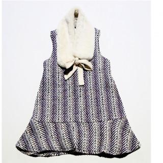 Dress w/ fur collar