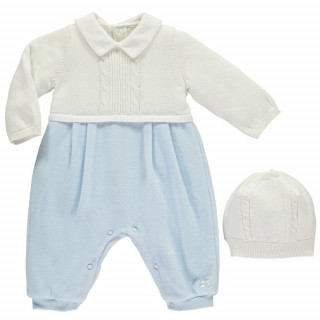 Cable knit upper & velour lower AIO, with Hat