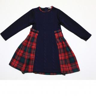 DRESS- JACQUARD BLUE