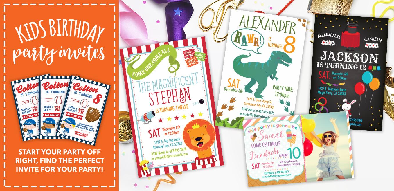 Birthday Party Invitations, Birthday Banners, Birthday Shirts | My ...