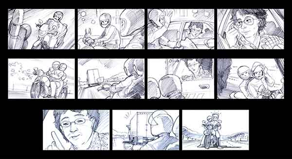 freelance storyboards by Dean