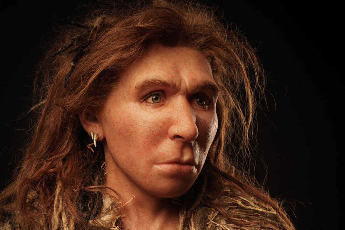 Portrait of a Neanderthal woman