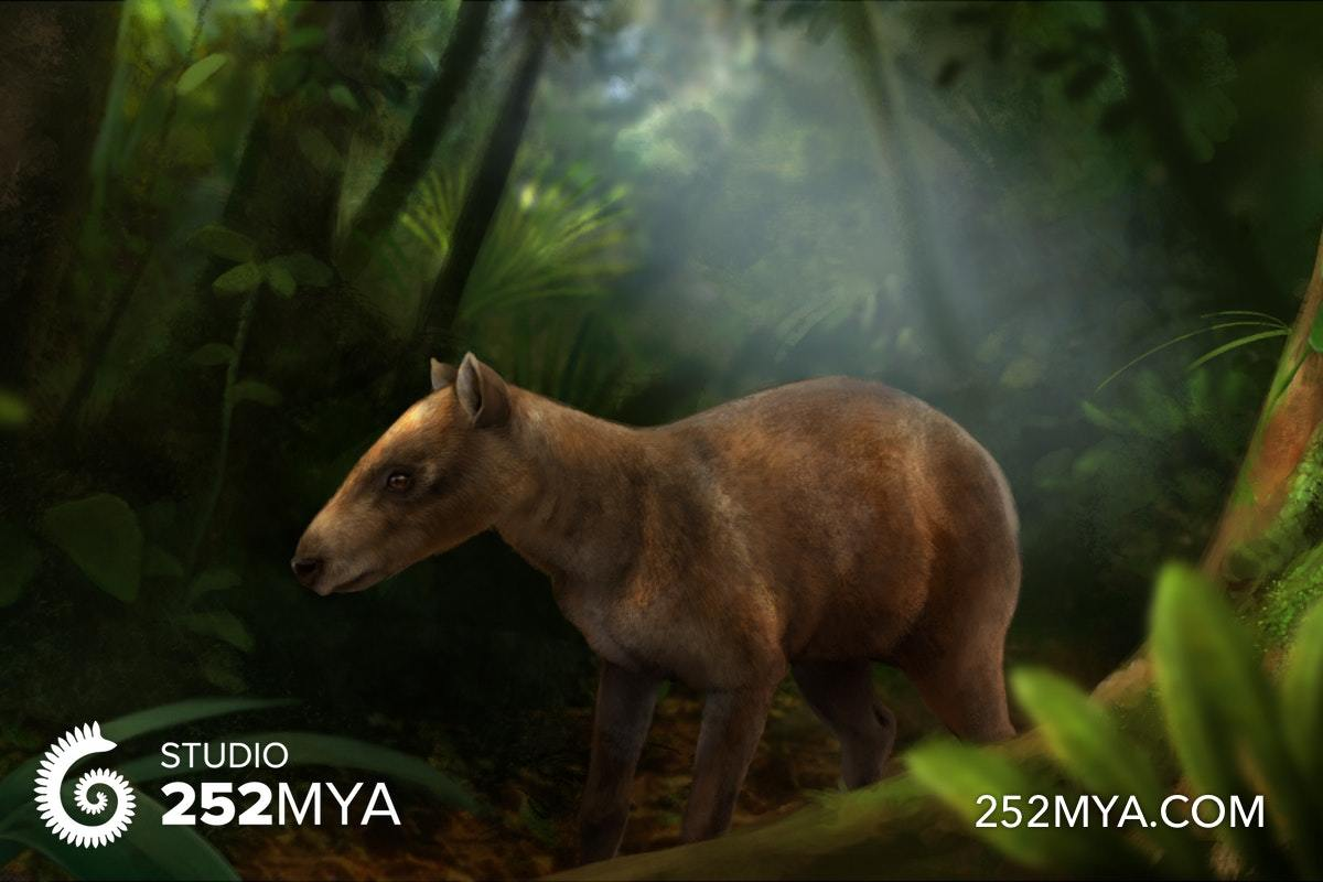 An artist's interpretation of Cambaytherium