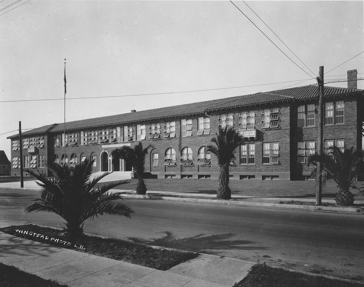 Franklin Jr. High School at 601 Orange Avenue in Long Beach. The school originally opened in September 1922.