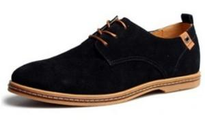 Suede Genuine Leather Oxford Sneakers - Free Shipping