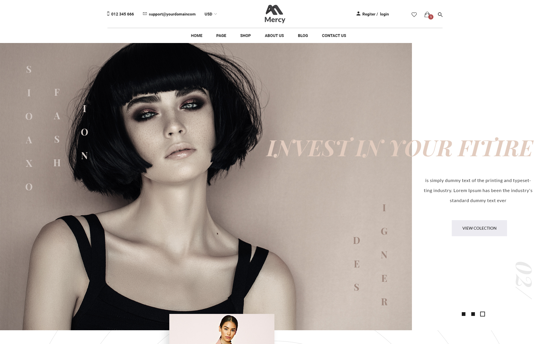 Mercy - Stunning Fashion eCommerce PSD Template