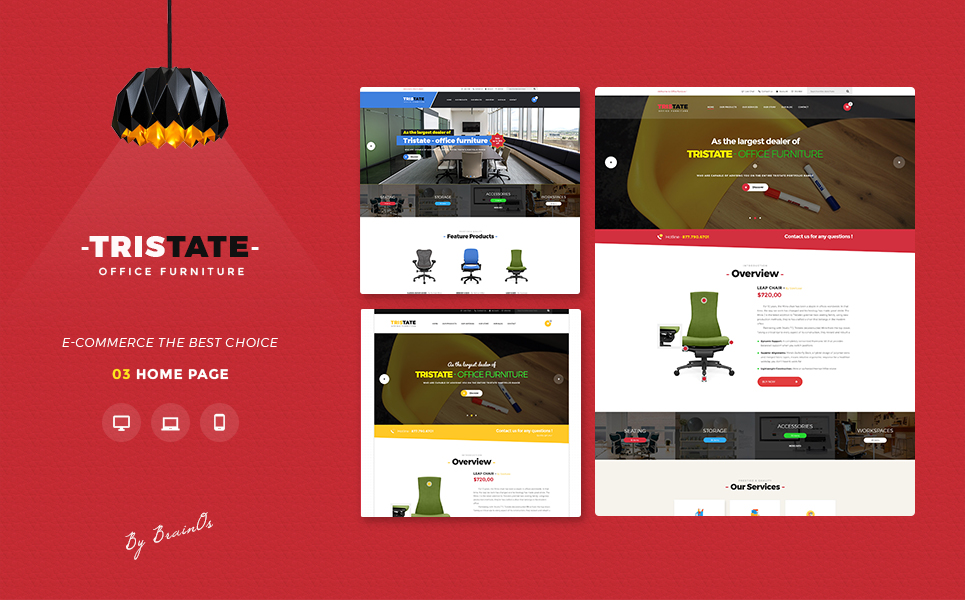 Tristate - Office Furniture Responsive Magento 2 Theme Magento Theme Big Screenshot