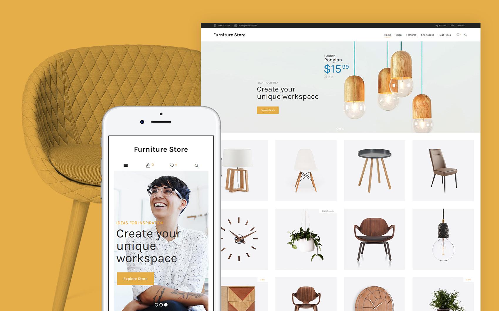 Responsives WooCommerce Theme für Wohnungsmodernisierung